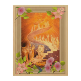 Jacob's Dream By William Blake Wood Canvas