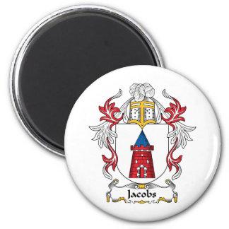 Jacobs Family Crest 6 Cm Round Magnet