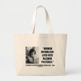 Jacqueline Kennedy Minimum Information Politeness Tote Bag
