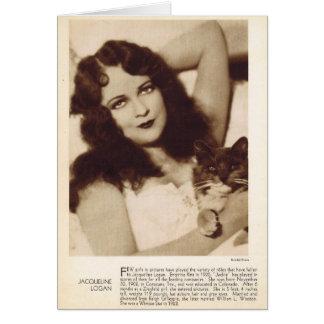 Jacqueline Logan 1931 vintage portrait Card