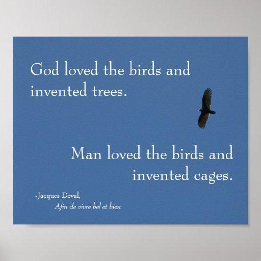 Jacques Deval Bird Poster