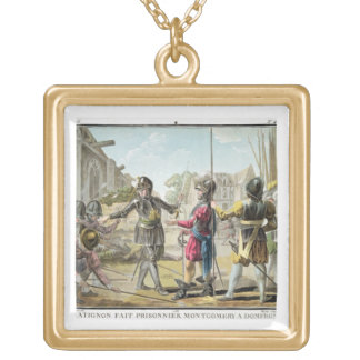 Jacques il Goyon, Lord of Matignon, Takes Montgome Gold Plated Necklace