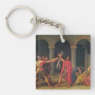 Jacques-Louis David Art Single-Sided Square Acrylic Key Ring