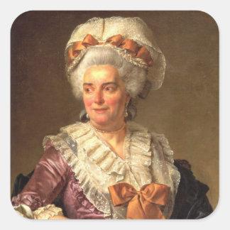Jacques-Louis David Art Square Stickers