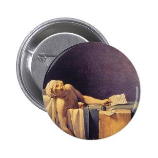 Jacques-Louis David Death Of Marat Pinback Buttons