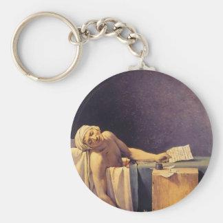 Jacques-Louis David Death Of Marat Basic Round Button Key Ring