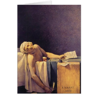 Jacques-Louis David Death Of Marat Greeting Card