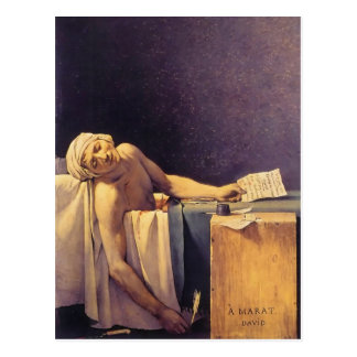 Jacques-Louis David Death Of Marat Postcard