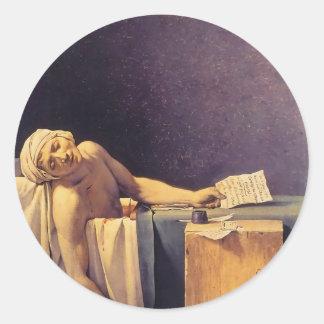 Jacques-Louis David Death Of Marat Round Sticker
