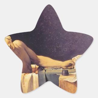 Jacques-Louis David Death Of Marat Star Sticker