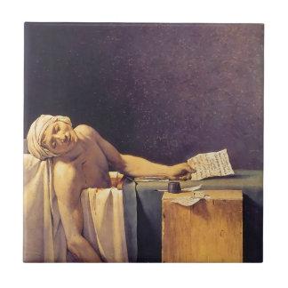 Jacques-Louis David Death Of Marat Ceramic Tiles