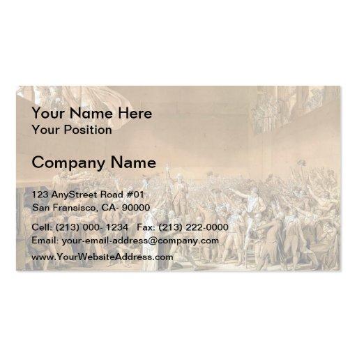 Jacques-Louis - Tennis Court Oath, 20th June 1789 Business Cards