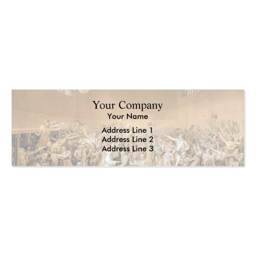 Jacques-Louis - Tennis Court Oath, 20th June 1789 Business Card Template