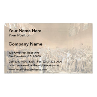 Jacques-Louis - Tennis Court Oath, 20th June 1789 Pack Of Standard Business Cards