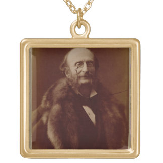 Jacques Offenbach (1819-80), German composer, port Gold Plated Necklace