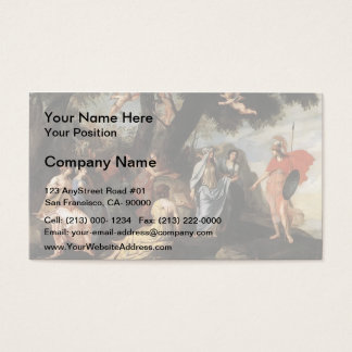 Jacques Stella- Minerva with the Muses Business Card