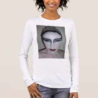Jacqui B Black Swan Ladies Long Sleeve (Fitted) Long Sleeve T-Shirt