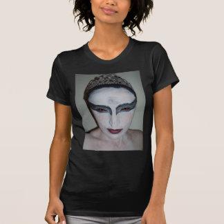 Jacqui B Black Swan Ladies Twofer Sheer (Fitted) Tshirts