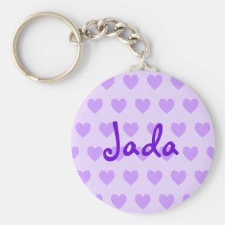 Jada in Purple Basic Round Button Key Ring