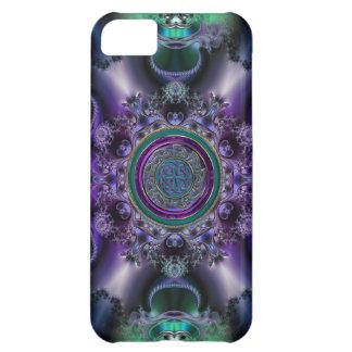 Jade and Amethyst Celtic Fractal Design iPhone 5C Case