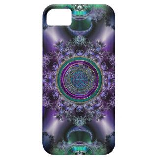 Jade and Amethyst Celtic Fractal Design iPhone 5 Case