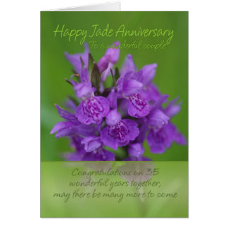 Jade Anniversary Card - 35th Anniversary Card