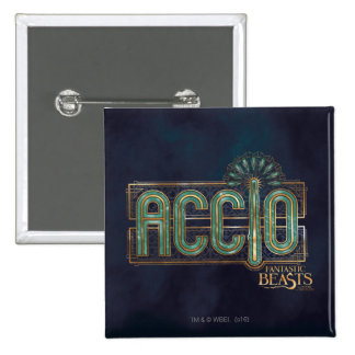 Jade Art Deco Accio Spell Graphic 15 Cm Square Badge
