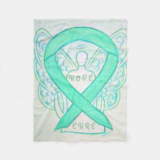 Jade Awareness Ribbon Angel Hope Cure Blanket