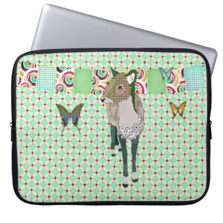 Jade Deer & Butterflies Computer Sleeve