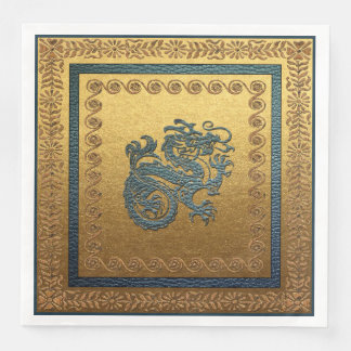 Jade Dragon Dinner Paper Napkins