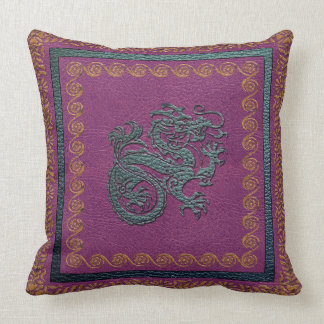 """Jade Dragon Throw Pillow, Throw Pillow 20"""" x 20"""""""