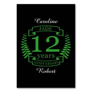 Jade Gemstone wedding anniversary 12 years Card