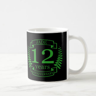 Jade Gemstone wedding anniversary 12 years Coffee Mug