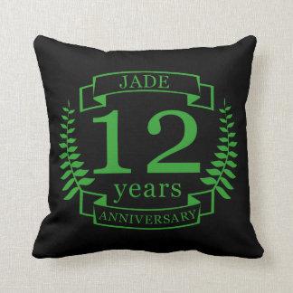 Jade Gemstone wedding anniversary 12 years Cushion