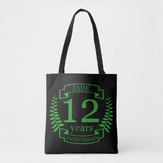 Jade Gemstone wedding anniversary 12 years Tote Bag