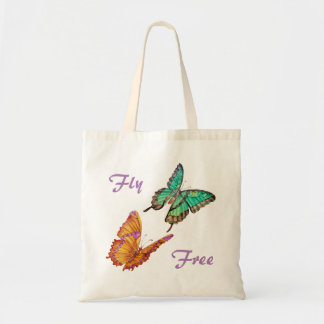Jade Green and Golden Butterfly Tote Bag