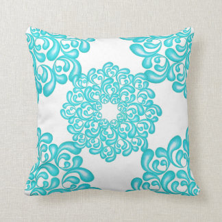 Jade Green Love Mandala Throw Pillow