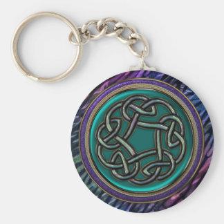 Jade Green Metal Celtic Knot Key Ring