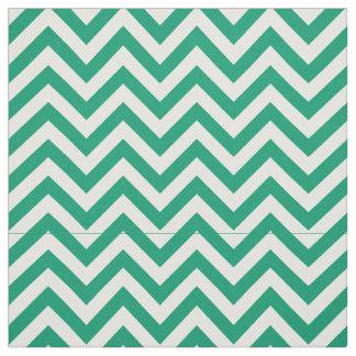 Jade Green, White LG Chevron ZigZag Pattern 12I Fabric