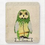 Jade Gypsy Owl Personalised  Mousepad