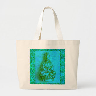 Jade Kwan Yin Large Tote Bag