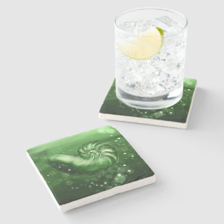Jade Nautilus Shell Art Coaster