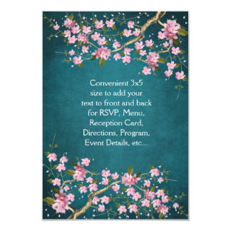 Jade Pink Japanese Cherry Blossoms Wedding 9 Cm X 13 Cm Invitation Card