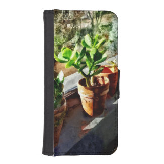 Jade Plants in Greenhouse iPhone SE/5/5s Wallet Case
