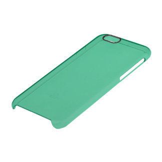 Jade Solid Colour Clear iPhone 6/6S Case