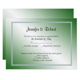 Jade Swan 35th Anniversary Response Card 9 Cm X 13 Cm Invitation Card