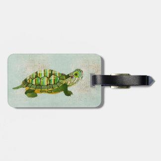 Jade Turtle Luggage Tag