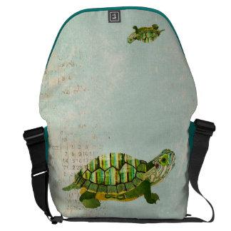 Jade Turtle Messenger Bag