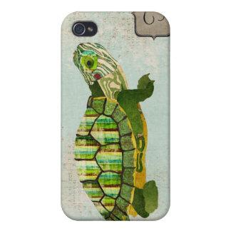 Jade Turtle Monogram i iPhone 4 Case