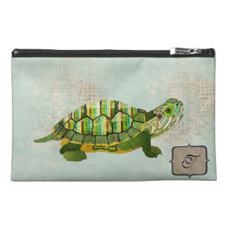 Jade Turtle Monogram Travel Accessory Bag